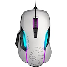 Roccat Kone AIMO RGBA Smart Customisation Gaming Mouse - White