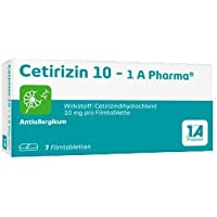 CETIRIZIN 10-1A Pharma Filmtabletten 7 St Filmtabletten preisvergleich bei billige-tabletten.eu