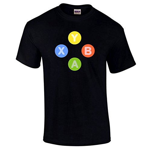 Xbox One 360 Controller Buttons Symbols A B X Y Gaming Gamers Video Game T-shirt Choice Of Colours S-5XL