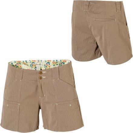 Horny Toad Damen Yolo Shorts–Kurz Fossil/Stone Stripe
