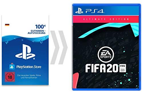 100€ PSN Guthaben-Aufladung für FIFA 20 - Ultimate Edition [PS4 Download Code - deutsches Konto] - Ultimate Edition Edition   PS4 Download Code - deutsches Konto