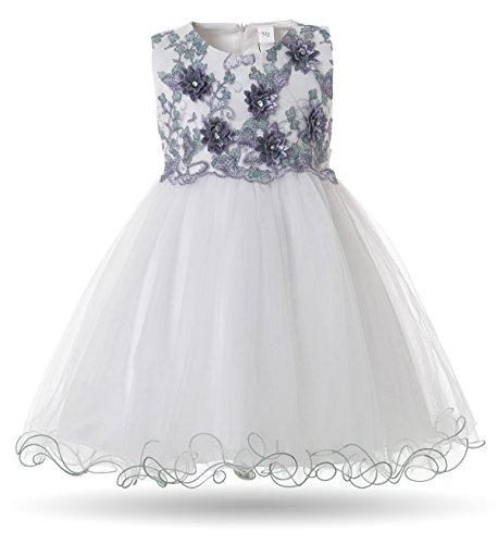 CIELARKO Baby Mädchen Kleid Prinzessin Kleinkind Blume Taufkleid Festzug Hochzeits Kleidung 3-24 Monate (Kostüme-0-3 Baby-mädchen Monate)