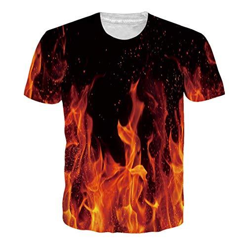 RAISEVERN Geburtstagsgeschenke für Männer/Teens Casual Kurzarm Vintage T-Shirt Schwarz XXL -