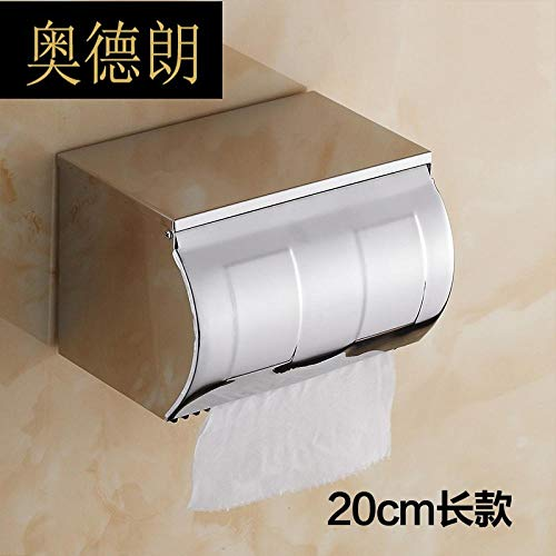 Joeesun Baño Caja Papel higiénico Acero Inoxidable