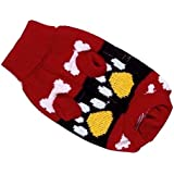 Generic Acrylic Knit Turtleneck Sweater Clothes For Dog Pet - M Red