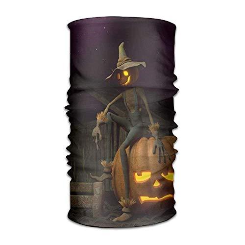Headband Bandanas Halloween Scarecrow Pumpkin Versatile Daily Headwear Neck Gaiter Balaclava Helmet Liner Riding Face Mask For Kids Women Men Outdoors UV Protection