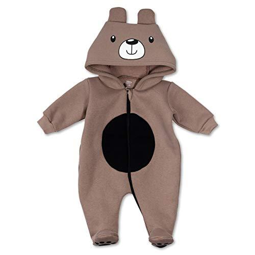 Baby Sweets Baby Tier Strampler Unisex braun | Motiv: Bär | Tierstrampler mit Kapuze für Neugeborene & Kleinkinder | Größe 3-6 Monate (68)... (Niedliche Kostüm Baby Jungen)