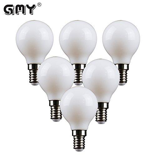 E14 LED Filament Golf Ball Glühbirne, GMY Beleuchtung P45 Mini Globe glühbirne 4 Watt Äquivalent zu 28 Watt 2700 Karat 220-240 V 6 Pack