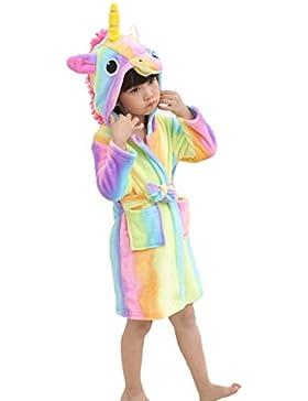 XINNE Ragazzi Ragazze Unicorno Con Cappuccio Accappatoio Unisex Bambini Vestaglia Pigiama Camicia da Notte Flannel...