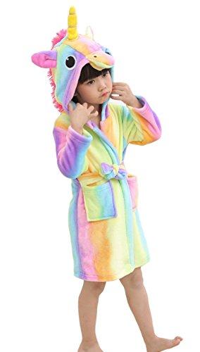 XINNE Unicornio Albornoz Capucha Niños Niñas Pijamas