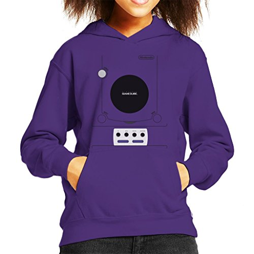 Cloud City 7 Retro Gaming Console Gamecube Gaming Console Kid's Hooded Sweatshirt