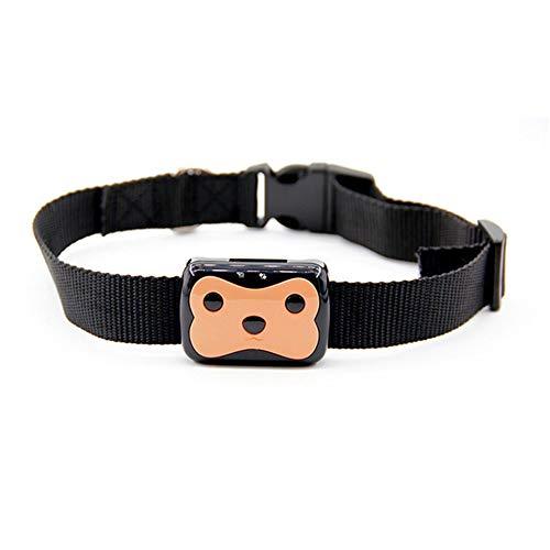 Wrqq Nuevo Pet Posicionamiento GPS Tracker Lbs Dual Locator Super Impermeable Inteligente Micro Anti Dispositivo Perdido Collar InaláMbrico El Ideal para Seguimiento,Brown,45 * 35 * 15mm