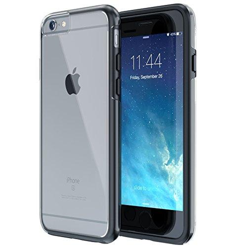 iPhone 66S Plus 5.5Case, True Color® Cristal Clear Transparent Hybrid capot soutenir Stark + Soft Fine Long de chocs de protection TPU stoßabdeckungs [Ultra Clear Collection] Schwartz