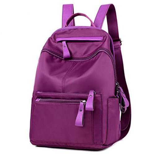 Sacchetto Di Spalla Della Tela Di Canapa Da Donna Personalizzato Zaino Purple