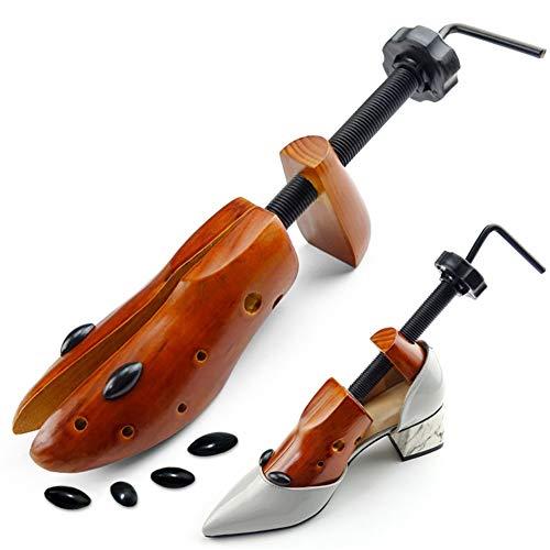 Ylovow barella professionale per scarpa, barella scarpa in legno, scarpa regolabile con scarpa per uomo e donna,brown,m