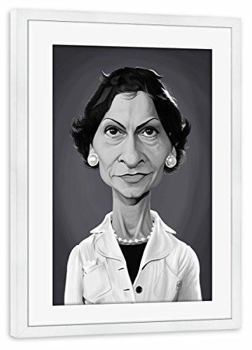 artboxONE Poster mit Rahmen Weiß 75x50 cm Coco Chanel von Rob Snow - gerahmtes Poster