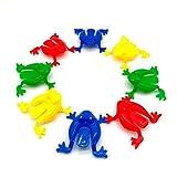 TOYMYTOY Froschspiel Springende Frösche Spielzeug für Kinder Kleinkinder 24 Stücke (zufällige Farbe)