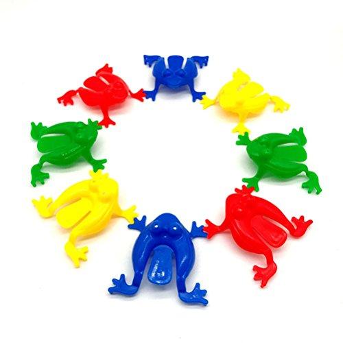 TOYMYTOY Froschspiel Springende Frösche Spielzeug für Kinder Kleinkinder 24 Stücke (zufällige Farbe) (Der Springende Frosch)