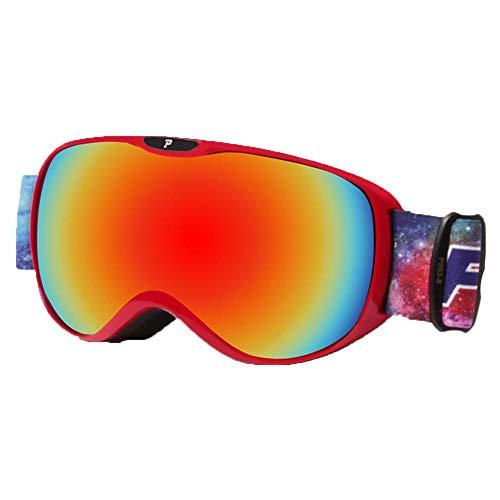 HEXUAN Occhiali da Sci per Bambini Professionali Anti-Fog a Doppio Strato per Ragazzi e Ragazze Occhiali da Sci Antivento Occhiali equipaggiamento da Sci