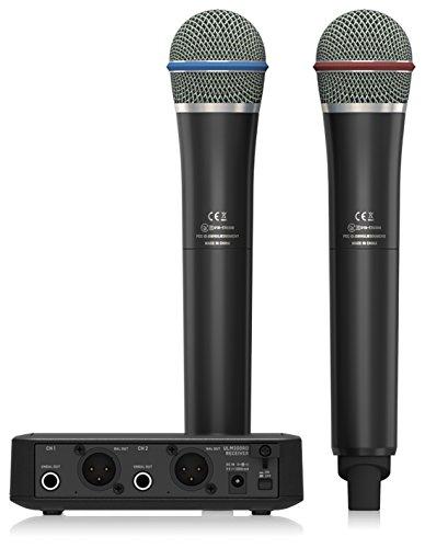 Behringer ULM302MIC Ultralink Hochleistungs-Digitales Funksystem mit 2 Handmikrofonen und Empfänger (Dual Digital Wireless Mikrofon)