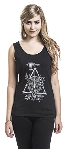 Harry Potter The Deathly Hallows Top donna nero Nero