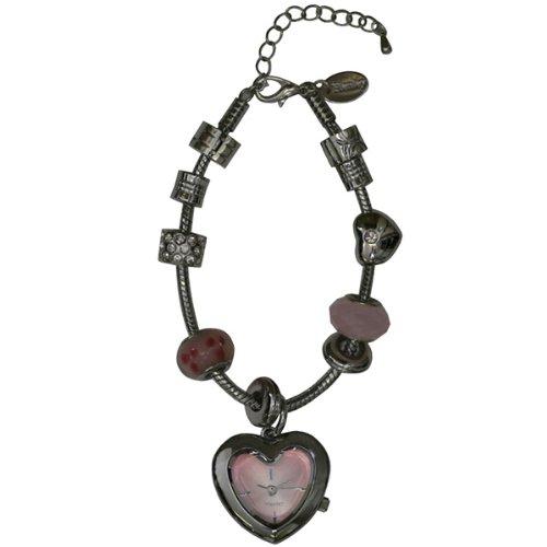 Henley Damen-Armbanduhr Henley Ladies Resolution Shaped Watch with Interchangeable Beads and Crystals Analog Edelstahl beschichtet silber H07189.5