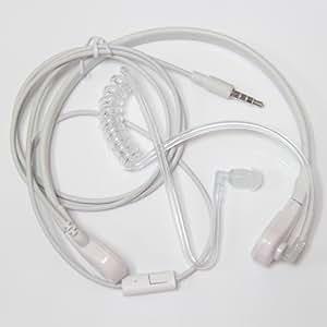 Casques et Oreillettes Laryngophone Prise de 3,5 mm Universelle avec Écouteur Contour d'oreille Transparent pour Téléphones iPhone 5 4S 4G 3GS 3G Samsung Galaxy Note 2 II S4 SIV S3 SIII S2 SII N7100 i9500 i9300 etc