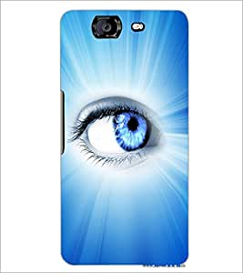 PrintDhaba Eye D-3346 Back Case Cover for MICROMAX A350 CANVAS KNIGHT (Multi-Coloured)