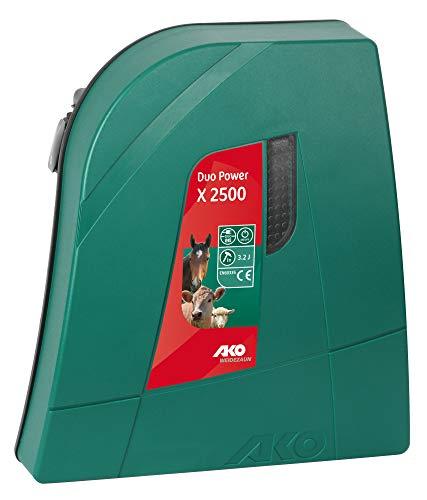 AKO Weidezaungerät Duo Power X 2500-12/230 Volt - geringer Stromverbrauch durch Stromsparschaltung - Abwehr von Wildtieren Wie Fuchs, Dachs und Rehwild