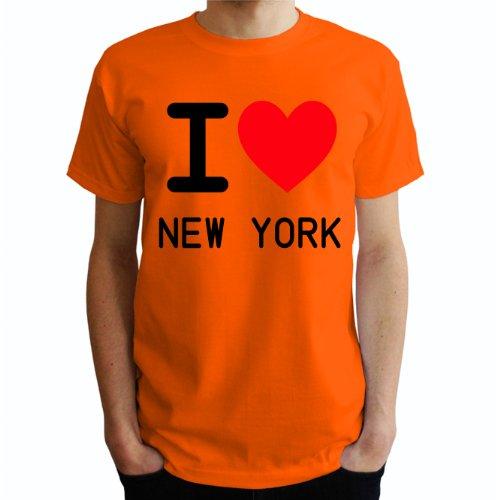 I love New york Herren T-Shirt Orange