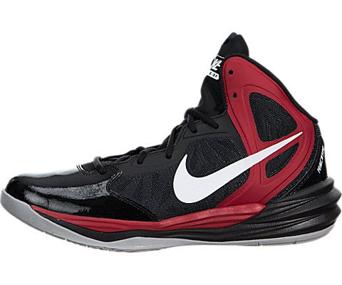 Nike Men's Prime Hype Df-Scarpe da pallacanestro, Multicolore (Black/White/Unvrsty Rd/Anthrct), 45.5