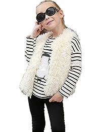 d4035b5bc bebe niña invierno abrigo,Longra ❤ 1- 8 años Invierno Bebe Niñas Chaleco  sin mangas Chaquetas de…