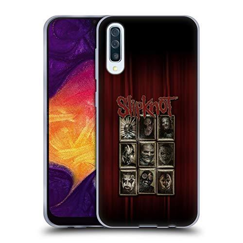 Head Case Designs Offizielle Slipknot Masken Kunst Soft Gel Huelle kompatibel mit Samsung Galaxy A50 (2019) (Slipknot Masken 2019)