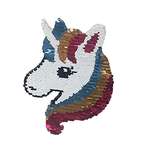 Wilk Rosa Lindo Unicornio Caballo Lentejuelas Patch
