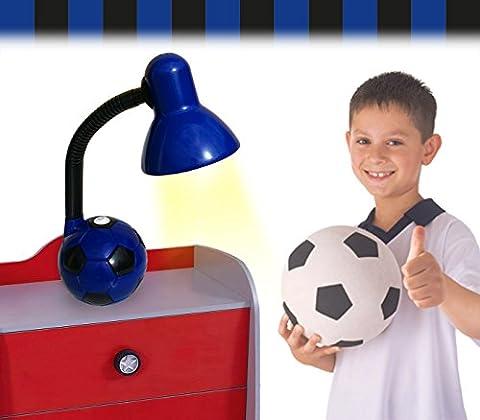 Lampe de bureau enfant pour les garçons et les filles -modèle ballon de football - Bleu