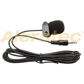Mini microphone pour PC/portable - jack 3,5mm - noir - clip-on