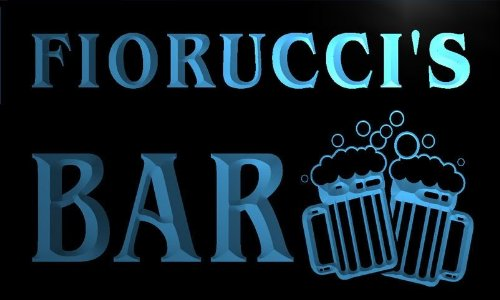 w076276-b-fiorucci-name-home-bar-pub-beer-mugs-cheers-neon-light-sign