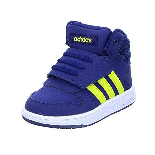adidas Baby Jungen Hoops Mid 2.0 Sneaker, Mehrfarbig (Darkblue/Shoyel/Ftwwht B75947), 27 EU