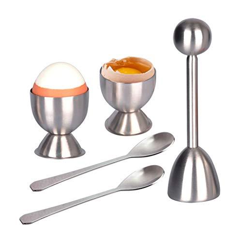 Huafi Eierköpfer Set | Rostfreier Stahl Eieröffner | Eggs Separator Tool gehören Löffel und Cups-Shell Remover & Cutter-Stahllöffel