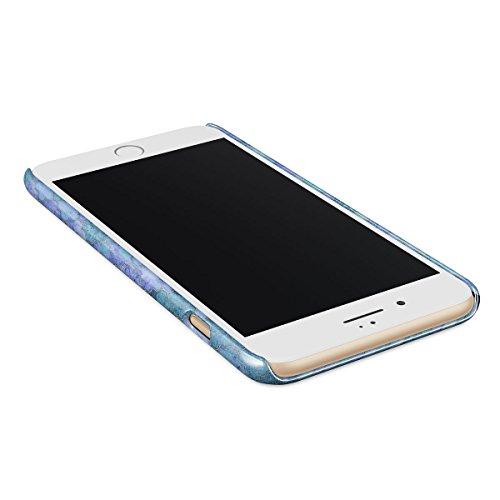 Cover iPhone 6 / 6s Blu Marmo, BURGA Azzuro Turqoise Teal Moroccan Tile Mosaico Design Sottile, Guscio Resistente In Plastica Dura, Custodia Protettiva Per iPhone 6 / 6s Case Paradise Valley
