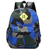 YL Story Lightweight Camouflage Kids School Backpack Waterproof Travel Rucksack Hiking Backpack for 3-6 Years Old Boys and Girl Dark Blue