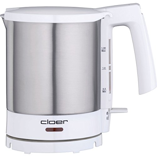 Cloer 4711 Wasserkocher Edelstahl, weiß