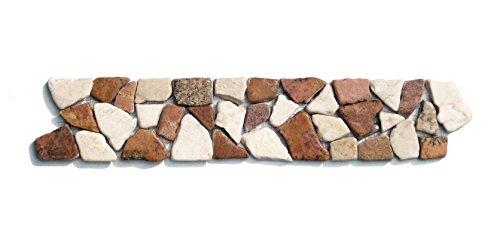 BO 558 Marmor Bordüre Bruchstein Mosaikfliesen Naturstein Badezimmer  Fliesen Lager Verkauf Stein Mosaik Herne