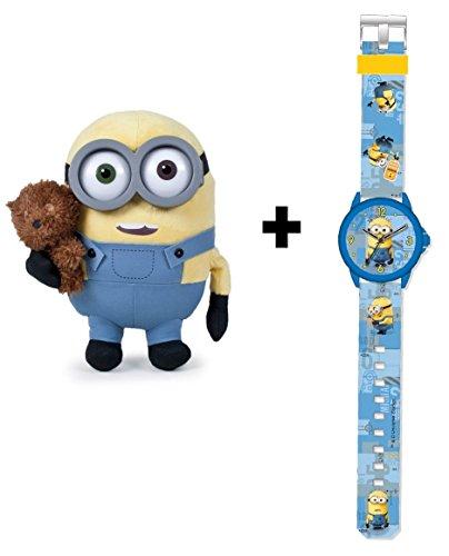 Reloj analógico infantil con peluche del personaje Bob de regalo