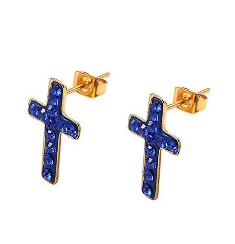 Yslin Einfach Ohrringe Fashion Earring Mode Damen Eardrop Kreuz Edelstahl Modeschmuck Kleine Tropfen Geschenk Für Frauen