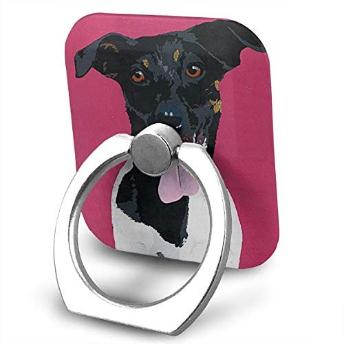 l Terrier Dog 360 Rotating Phone Metal Buckle Tablet Finger Grip Ring Stand Holder Kickstand for All Phones Tablets ()