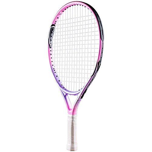 Senston Kinder Tennisschläger Junior Tennis Schläger Set mit Tennistasche,Overgrip,Vibrationsdämpfer,Rosa