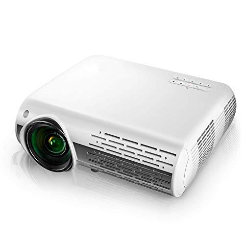 GLXLSBZ Beamer Mini Beamer unterstützt 1080P Full HD, Videobeamer mit tragbarer Tasche, Verbindung mit HDMI VGA SD USB AV Gerät Smartphone Heimkino Projektor Heimkino Beamer