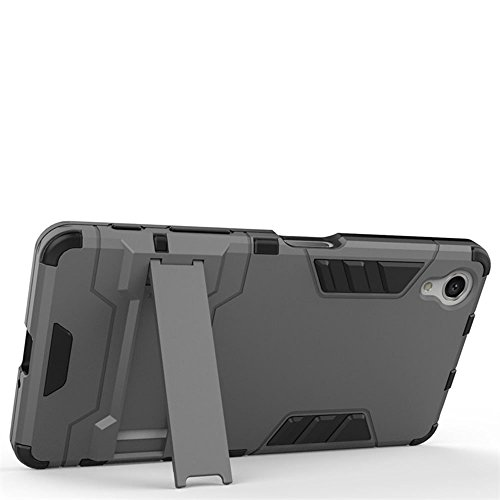 Xperia X Compact Coque,EVERGREENBUYING Ultra Slim l¨¦ger 2 en 1 F5321 Cases Housse Etui Premium Kickstand Bumper Hard Shell Back Coque Case Pour Sony Xperia X Compact Gris Bleu