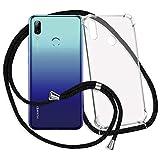 mtb more energy® Handykette für Huawei P smart 2019   Honor 10 Lite (6.21'')   schwarz   Smartphone Hülle zum Umhängen   Anti Shock Strong TPU Case